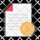 Receipt Bill File Icon