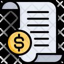 Receipt Purchase Invoice Icon