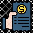 Hand Receipt Invoice Icon