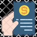 Hand Invoice Receipt Icon