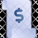 Receipt Money Dollar Icon
