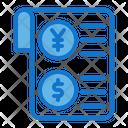 Receipt Bank Coin Icon