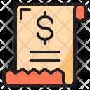 Receipt Bill Files Icon