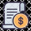 Receipt Invoice Bill Icon