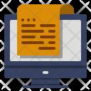 Electronic Receipt Data Icon