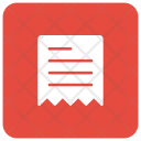 Receipt File Document Icon