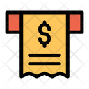 Dollar Receipt Bill Icon