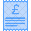 Pound Receipt Icon