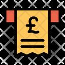 Pound Receipt Pay Icon