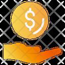 Recieve Money Hand Icon