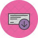 Receive Cheque Payment Icon