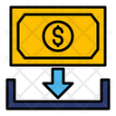 Receive Dollar Receive Money Currency Icon