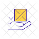 Receive Package Parcel Icon