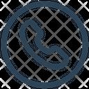 Social Telephone Receiver Icon