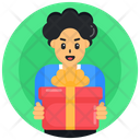 Present Surprise Receiving Gift Icon