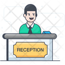 Front Desk Reception Desk Icon