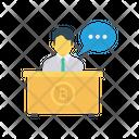 Reception Bitcoin Desk Icon