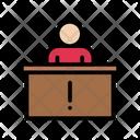 Reception Desk Employee Icon