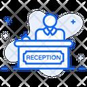 Reception Service Provider Front Desk Icon