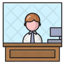 Reception Employee Office Icon