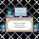 Reception Desk Service Provider Front Desk Icon