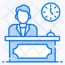 Reception Front Desk Customer Services Icon