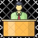 Reception Office Employee Icon