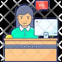 Counter Reception Reception Desk Icon