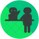 Reception Help Desk Icon