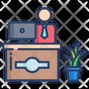 Reception Table Help Desk Receptionist Icon