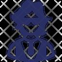 Miss Female Receptionist Icon