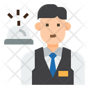Ifront Desk Receptionist Occupation Icon