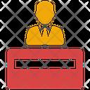 Receptionist Desk Business Icon