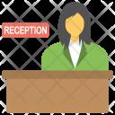 Female Receptionist Query Icon