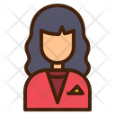 Receptionist Avatar Woman Icon