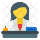 Receptionist Desk Assistant Icon