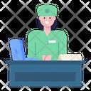 Front Desk Receptionist Hospital Reception Icon