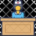Receptionist Health Clinic Reception Icon