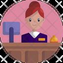 Receptionist Help Desk Female Icon
