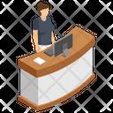 Receptionist Desk Icon