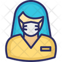 Receptionist Clerk Customer Service Icon