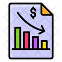 Recession Business Loss Business Downturn Icon