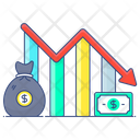 Recession Financial Chart Data Analytics Icon