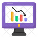 Downfall Recession Online Analytics Icon