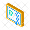 Cook Book Isometric Icon