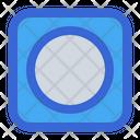 Record Player Circle Icon