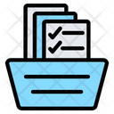 Record Keeping Bookkeeping Filing Cabinet Icon