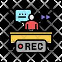 Rewind Recording News Icon
