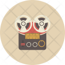 Recorder Tape Retro Icon