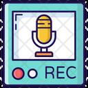 Recording Microphone Media Mic Icon